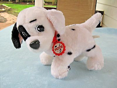 """1991 Mattel Disney 101 Dalmations Dog 10"""" """"Patch"""" With Red Collar Plush"""