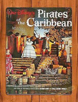 TIN SIGN Walt Disney Pirates Of The Caribbean Movie Ride Art Poster Attraction