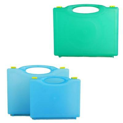 Qualicare Premier Empty Translucent Green or Blue First Aid Box (Various Sizes)