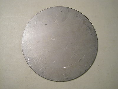 "1/8"" Steel Plate, Disc Shaped, 4.00"" Diameter, .125 A36 Steel, Round, Circle"