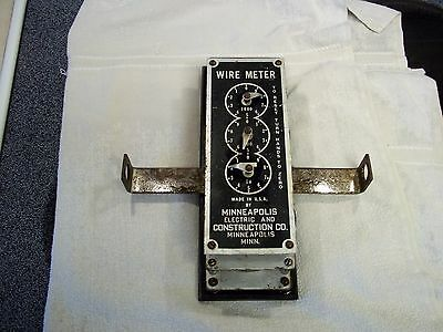 Vintage Electric Wire Meter Minneapolis Electric Co.
