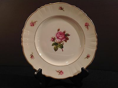 Syracuse Victoria Rose China One (1) Dinner Plate Federal Shape USA