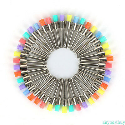 100 Mixed Color Nylon Latch Flat Dental Polishing Polisher Prophy Brush NEWEST