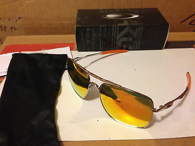 NEW Oakley - Deviation - Sunglasses, Polished Chrome / Fire Iridium, OO4061-03