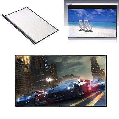 Projector Screen Home Theater Projection Cinema HD TV Conference 16:9 1.86*1.05m
