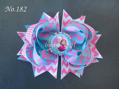 50 BLESSING Good Girl Boutique 5.5 Inch Cartoon Romantic Hair Bow Clip 190 No.