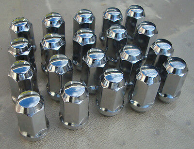 """WHEEL NUTS SET OF 20 CHROME 1/2 INCH X 20  """"USED"""" FORD Free POST style A"""