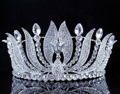 Phoenix Clear Austrian Crystal Rhinestone Tiara With Hair Combs Crown Prom T15