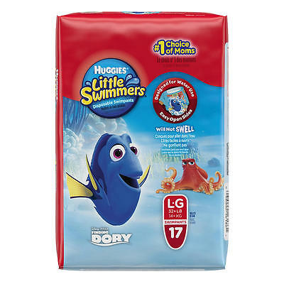 ✪✪✪Huggies Little Swimmers Disposable Swimpants Character May Vary , LARGE 17CT✪
