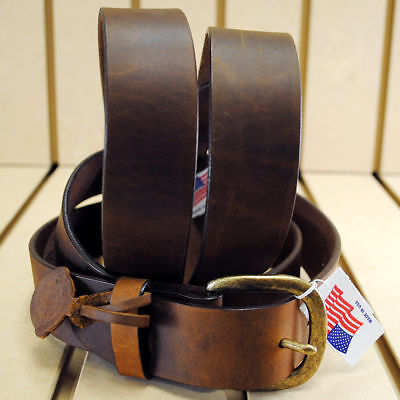 "Justin Brown 1-1/2"" Wide Basic Work Leather Mens Belt Brown Made In The Usa"