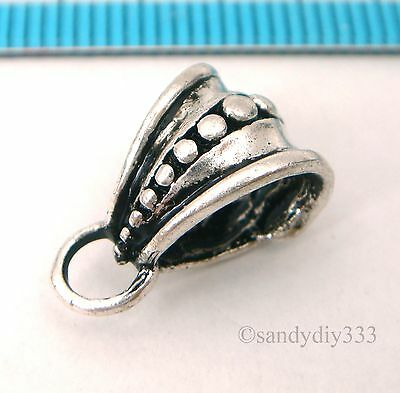 1x OXIDIZED STERLING SILVER BAIL SLIDE PENDANT CONNECTOR #855