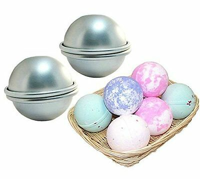 Metal DIY Bath Bomb Mold - Mix Your Own Recipes-- 2 Set - 4 Pieces - Large