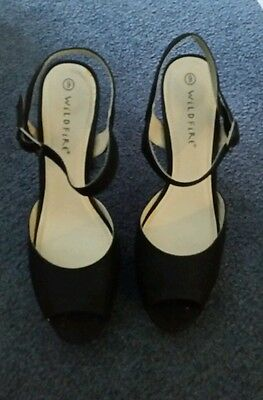 As New Wildfire  High Heel Black Women's Shoes Size 9