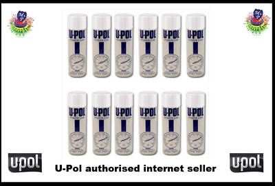 U-pol Power Can Aerosol CLEARCOAT Paint LACQUER 500ml x 12 Upol Powercan PCLC