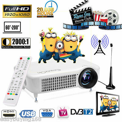 Exquizon 5018D Home LED Proyector 5500 LM 1080P DVB-T2 ATV HDMI USB Home Cinema