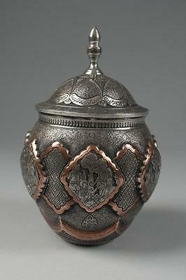Superb Large Persian Hand Crafted Decorative Copper Jar,