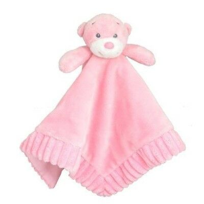 Baby Comforter Security Comfy Blanket Plush Toy Bear by Korimco New Pink Girl