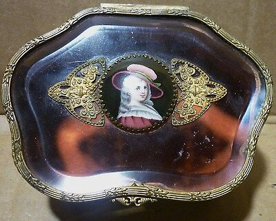 french jewelry box porcelain medallion gold gild bronze cut crystal glass