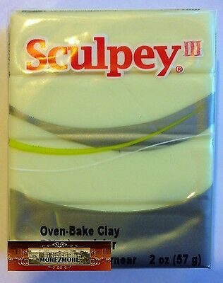 M00420a MOREZMORE Sculpey III GLOW IN THE DARK 2 oz Polymer Clay T20