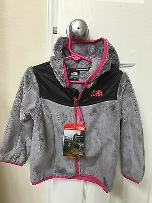 Brand New!! The North Face Baby Girl Infant Oso Hoodie size 18-24