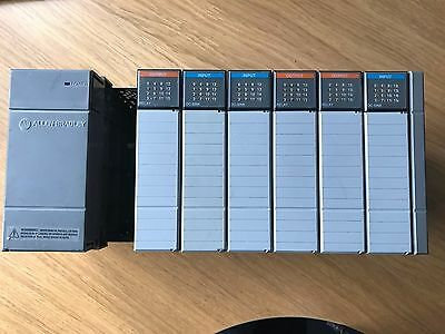 Allen Bradley SLC500 Rack complete with power suppl and modules = UK delivery on