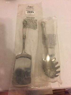 Sterling Silver Chantilly Gorham Italian Spoon And Lasagna Server Set