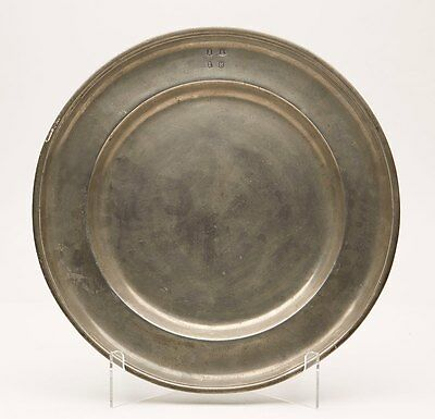 Antique London Pewter Charger Dated 1783