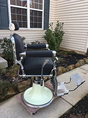Belmont Barber Chair Fully Functional  Great Chrome Antique Shop Classic