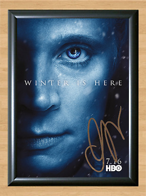 Game of Thrones Gwendoline Christie Signed Autographed A4 Poster Memorabilia dvd