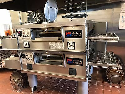 MIDDLEBY MARSHALL PS 550 Doublestack Gas Conveyor Pizza Ovens - Warranty Avail.