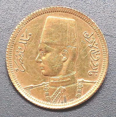 """1357 - 1938 Egypt 20 Piasters Gold COIN. """"XF"""" """"RARE"""" -  KM#: 370"""
