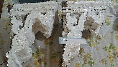 LOT OF 5  SETS (10 pieces total)OF 155 YEAR OLD Antique Wood Corbels  AWESOME