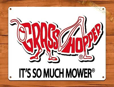 "TIN SIGN ""Grasshopper Lawn Mowers"" Oil Garage Vintage Wall Decor"