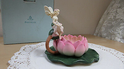 Partylite Fairyland Tealight Votive Candle Holder P7342 Water Lily Lotus Flower
