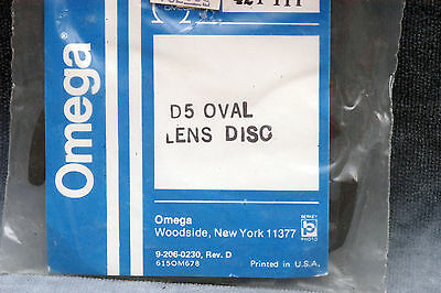 Omega D5 Oval Lens Disc (Lens Board), Flat Blank  #421-111 - Free Shipping