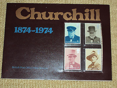 British Post Office, 4 Uncirculated Churchill Stamps In Booklet