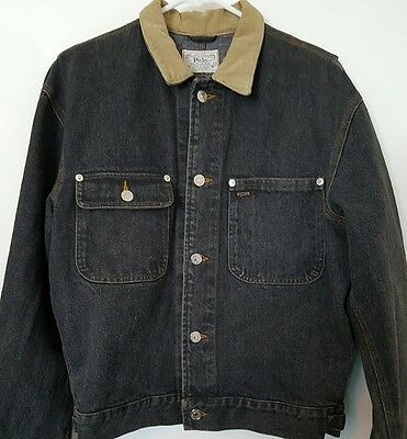 POLO ralph lauren mens vintage black denim jacket 1990s M Medium