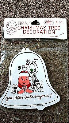 Vintage Ziggy Christmas Ornament, Bell 1979, Wooden, New in Package, Cute!!
