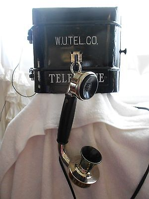 WESTERN UNION Call Box Telephone Police Fire Alarm Electric Wall Phone Gamewell