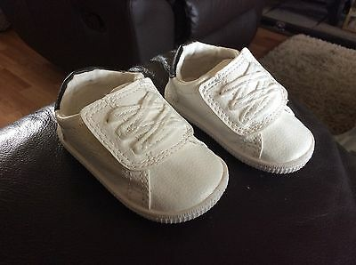 Next Baby Boy White Trainers Size 1 3-6 Months Brand New
