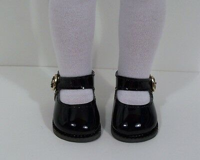 """BLACK Patent Lovely Doll Shoes For 14"""" AG Wellie Wisher Wishers (Debs)"""