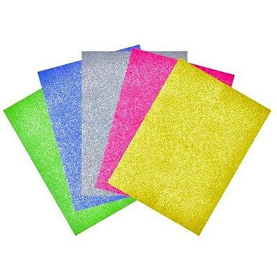 Quality Glitter Card Sheet Sparkly Colour Perl Card Craft DIY Scrapbooking Paper