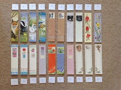 BOOKMARKS Any 5 - School Teacher Gift Variety Designs Flowers Animals Funny Kids