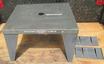 Vintage CRAFTSMAN ROUTER TABLE Model #25168 with Two FENCES