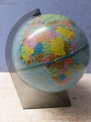 Very Stylish Vintage Globe On Smoked Perspex Stand - Scan Globe A/s Denmark