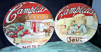 Campbell's ~ Set Of 2 ~ Decorative Plates ~ Wall Hangers Included ~ 2003