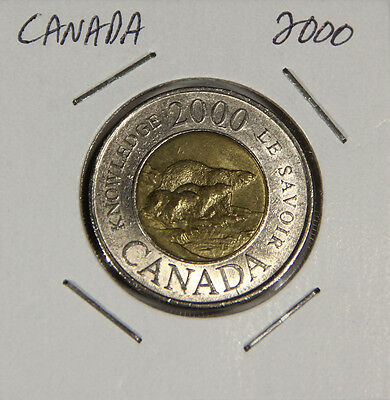 L001230 CANADA $2 Dollars TWOONIE / 2000 / Path Of Knowledge / YOU GRADE IT !!!