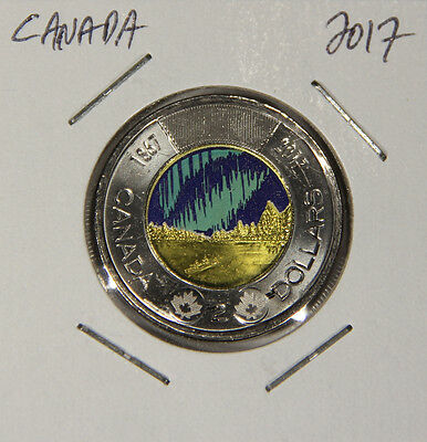 L001245 CANADA $2 Dollars TWOONIE 2017 / Dance Of The Spirits / GLOW In The Dark