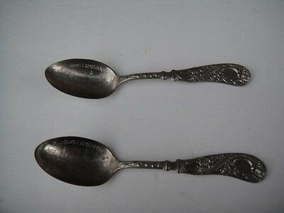 VINTAGE St Louis Worlds Fair Palace of Machinery Silverplate Souvenir Spoon LOT