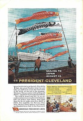 1962 Ss President Cleveland-American President Lines  Ad